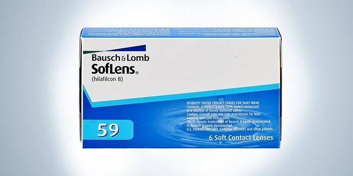 Гидрогелевые линзы Bausch & Lomb SofLens 59